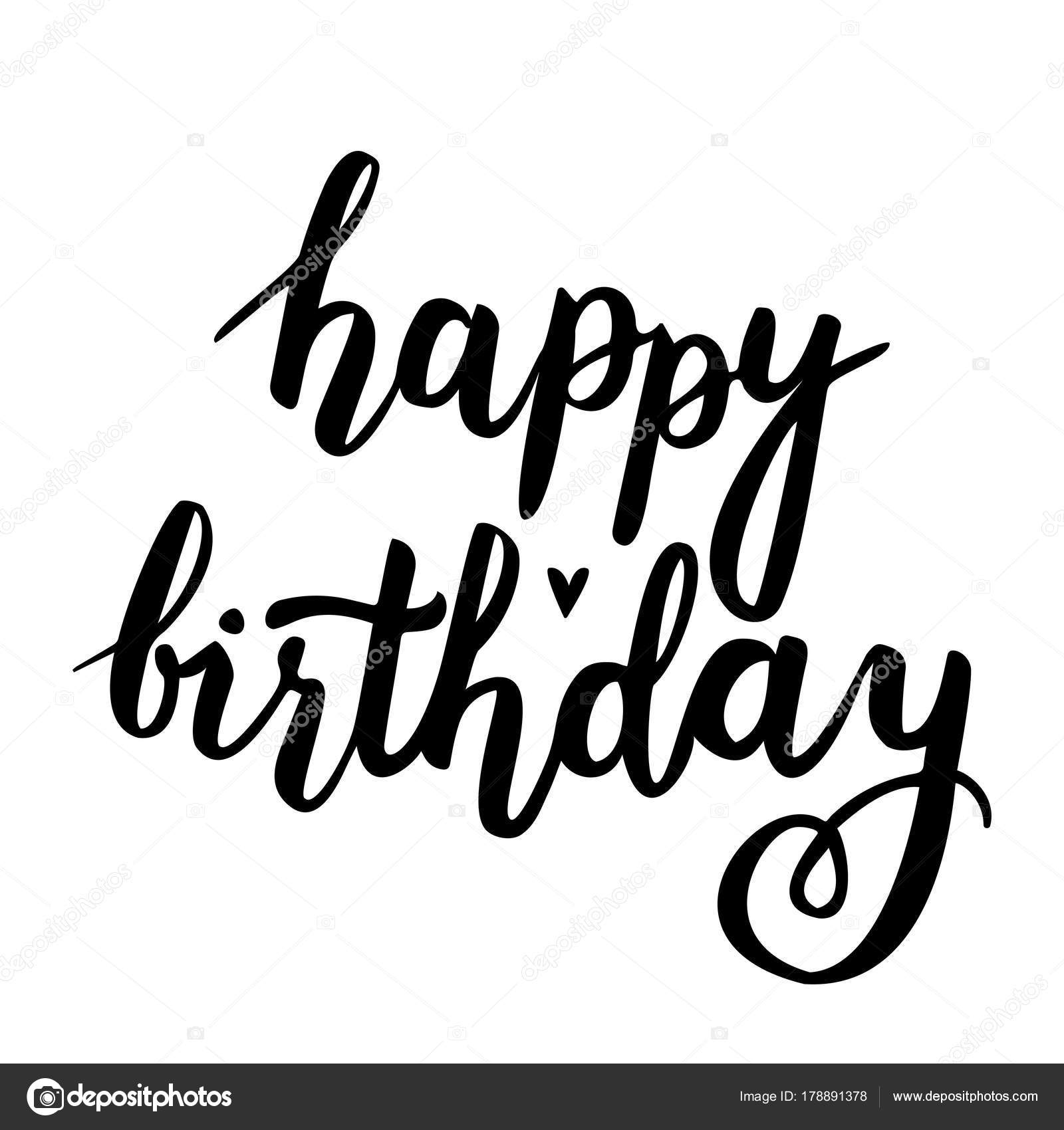 happy birthday vector card handwritten illustration heart stock rh depositphotos com happy birthday vector free download happy birthday vector background