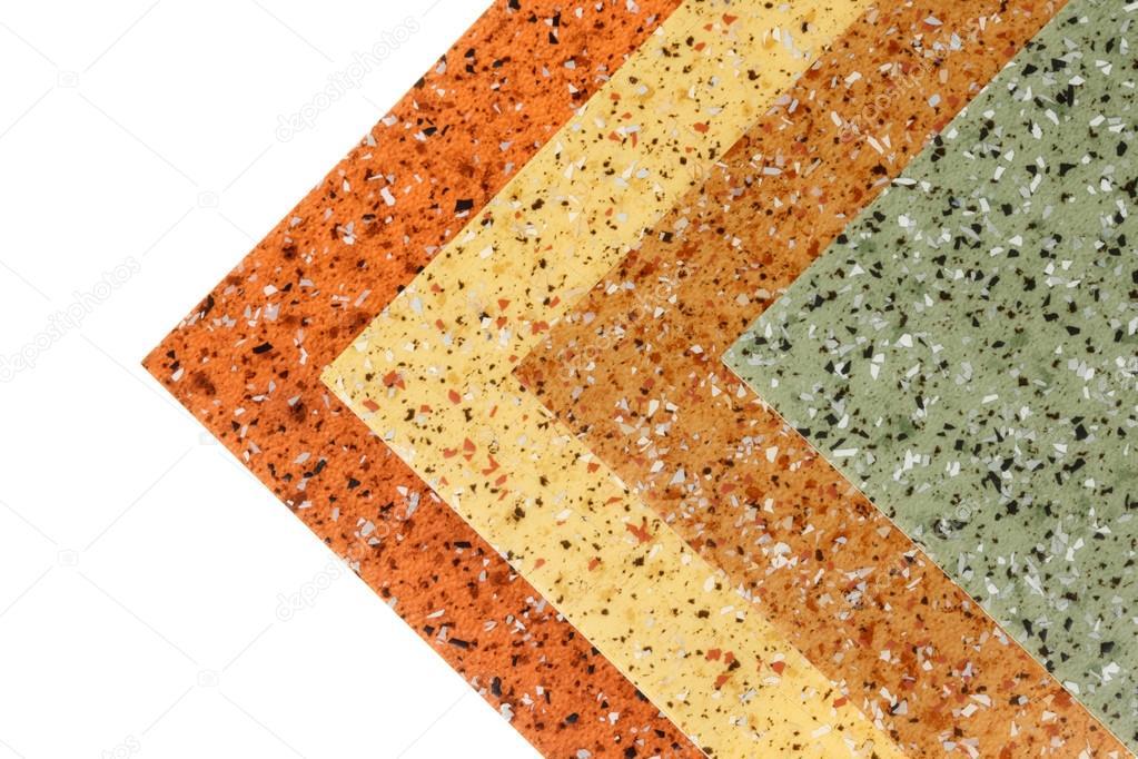 adf8d9a5b03d5 Amostras de piso de borracha com diferentes cores e texturas– imagem de  stock