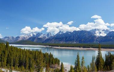 mountain at upperlake Canadian Rockies