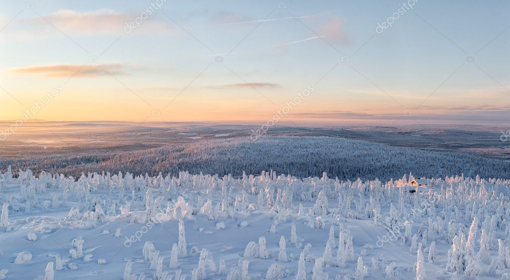winter landscape at lapland