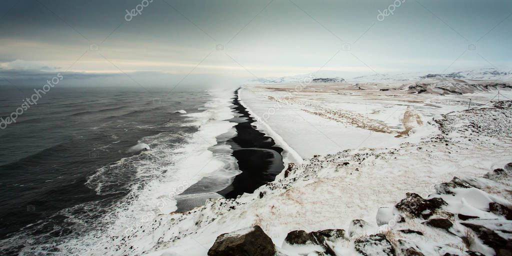 Artic winter landscape