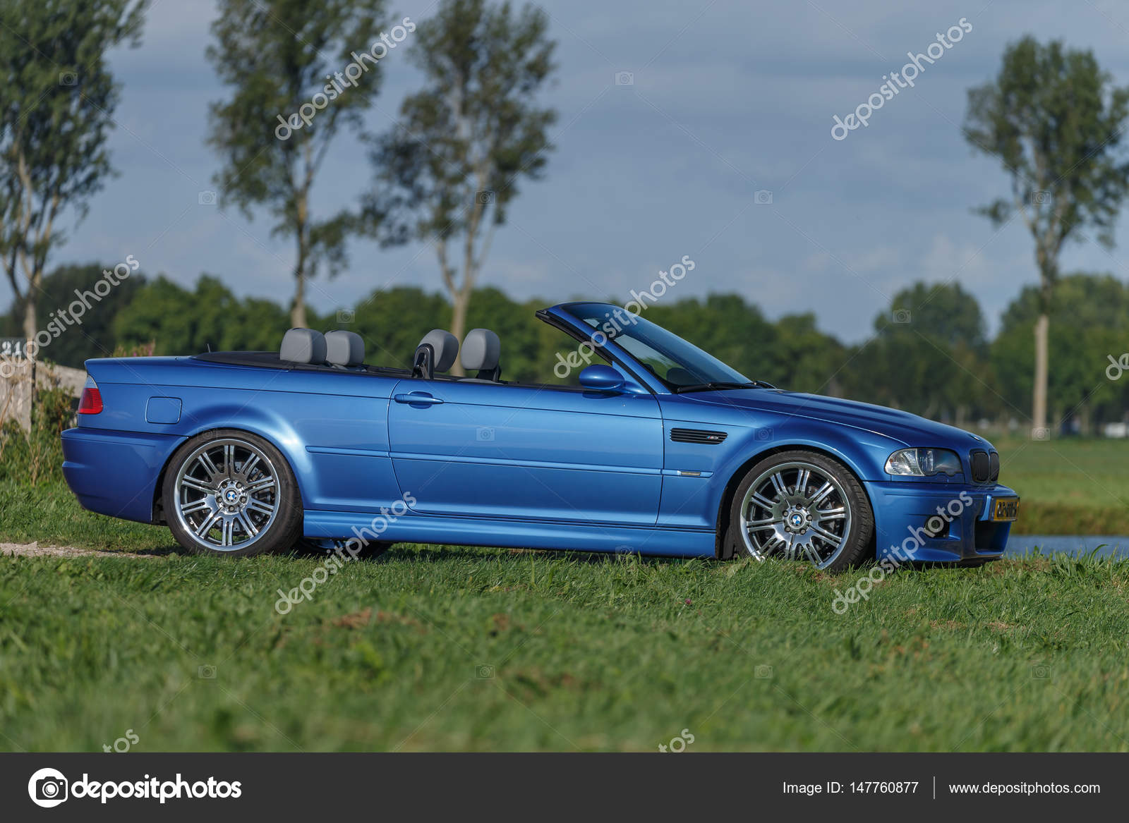 bmw m3 e46 convertible standing in a polder stock. Black Bedroom Furniture Sets. Home Design Ideas