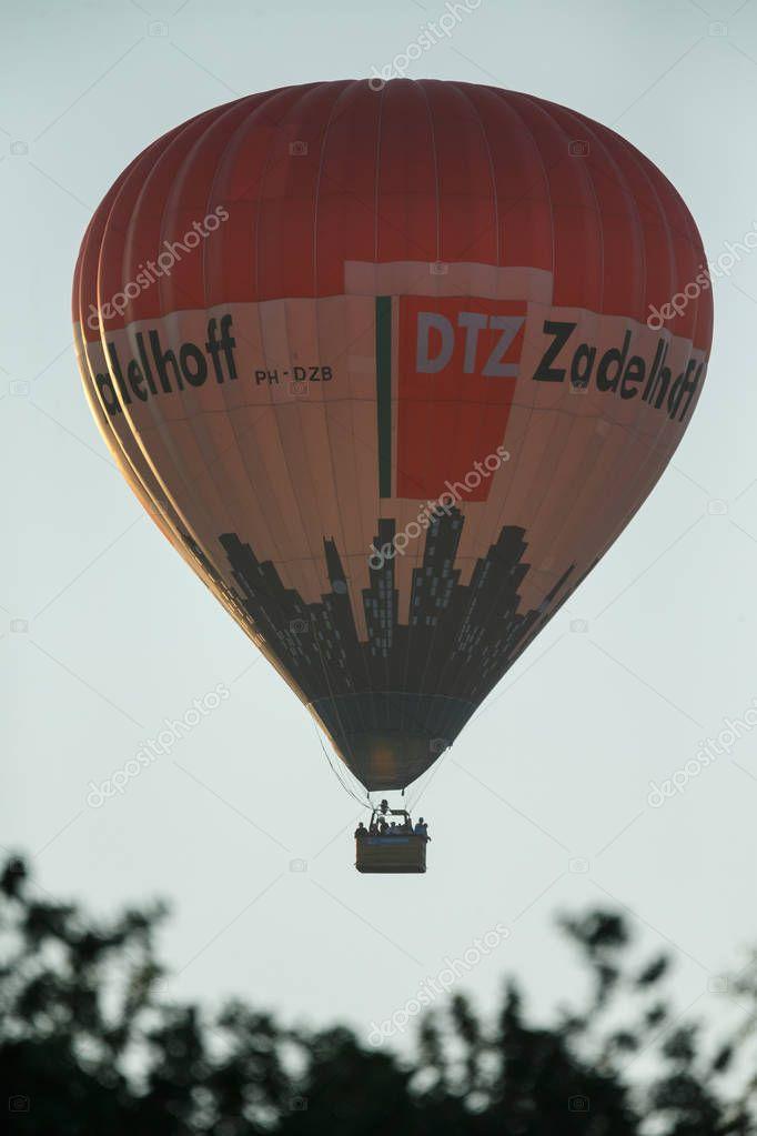 Aerostat baloon rising