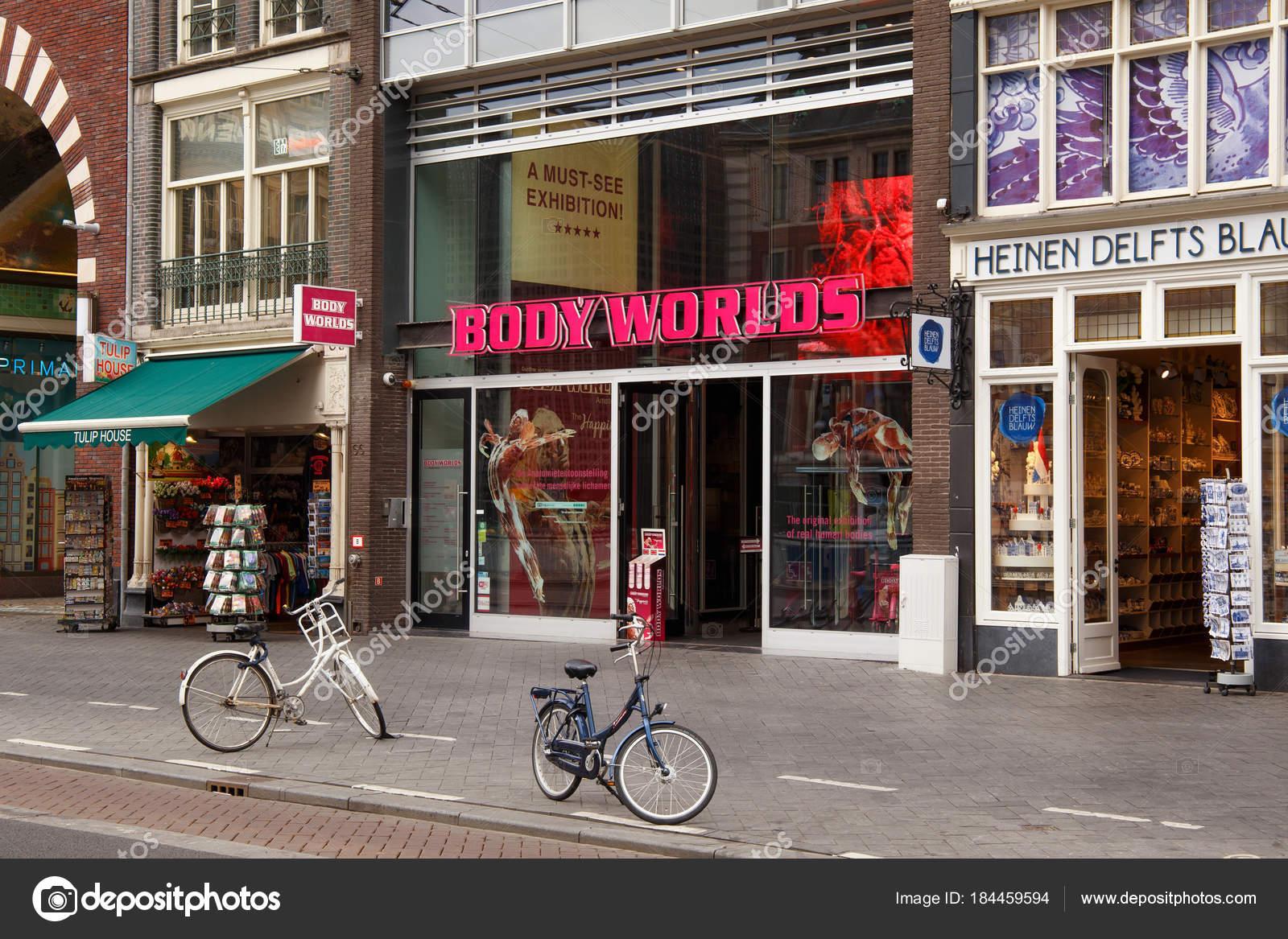 Eingang zum Körperwelten-Museum in Amsterdam — Redaktionelles ...