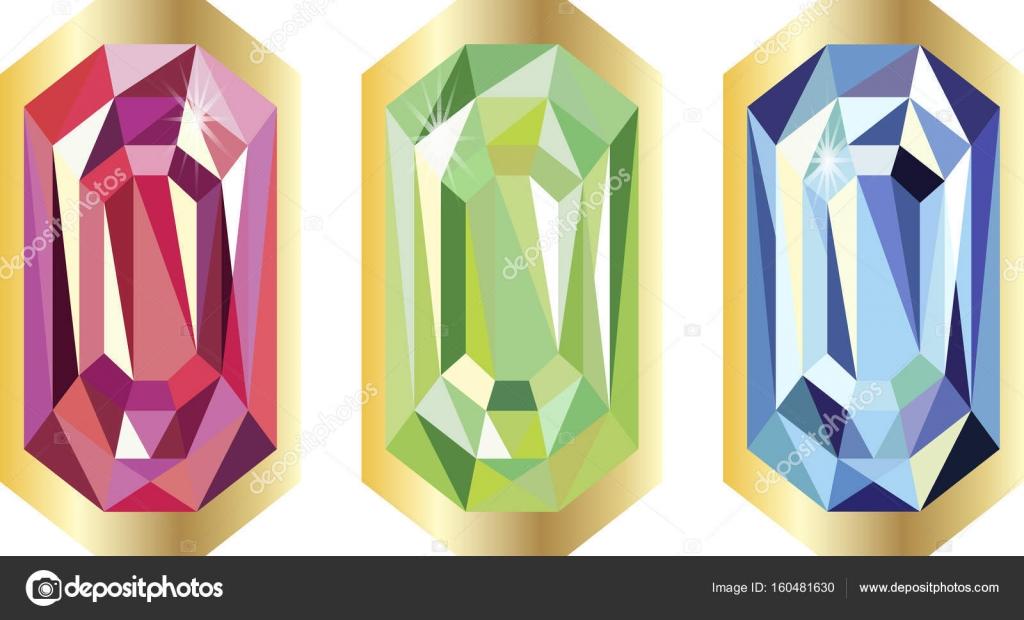 Piedras de diamante en marco de oro, triángulo, lujo, riqueza ...