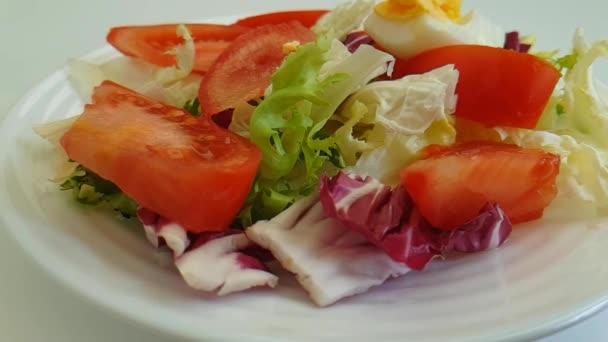 Salat Tomate Ei Gabel, gesunde Ernährung, Bio