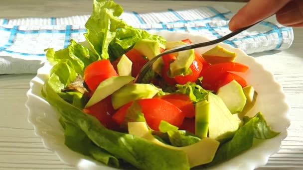 Avokádový salát rajčata Zpomalený pohyb
