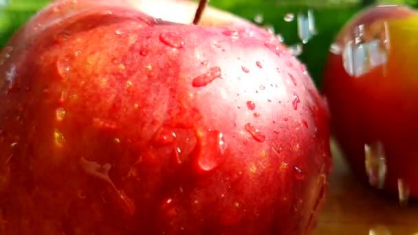 alma piros, ömlött a víz nyári lassú mozgás