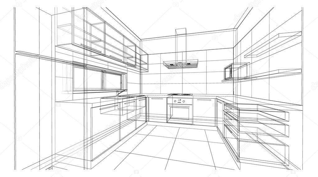 Interior Design Kitchen Stock Photo C Nawee12 125155710