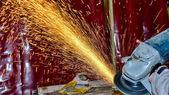 Fényképek A feldolgozás fém Szerszámköszörű korongok, fényes, spray