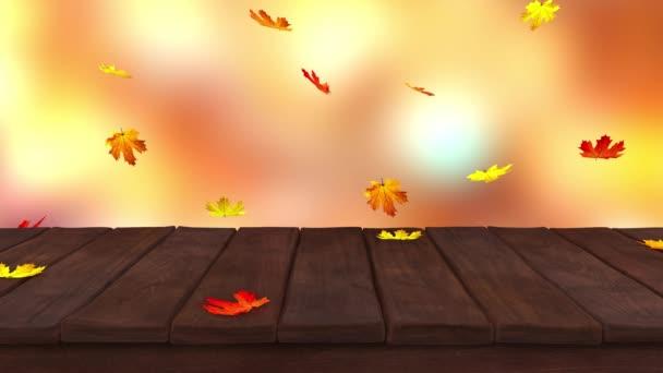 Tabulka dřevo podzim
