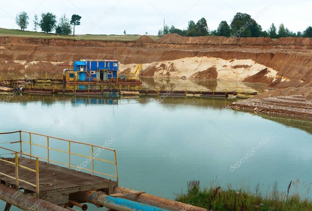 sand, mining, construction, draglines, excavators, scrapers, dredge, bagger