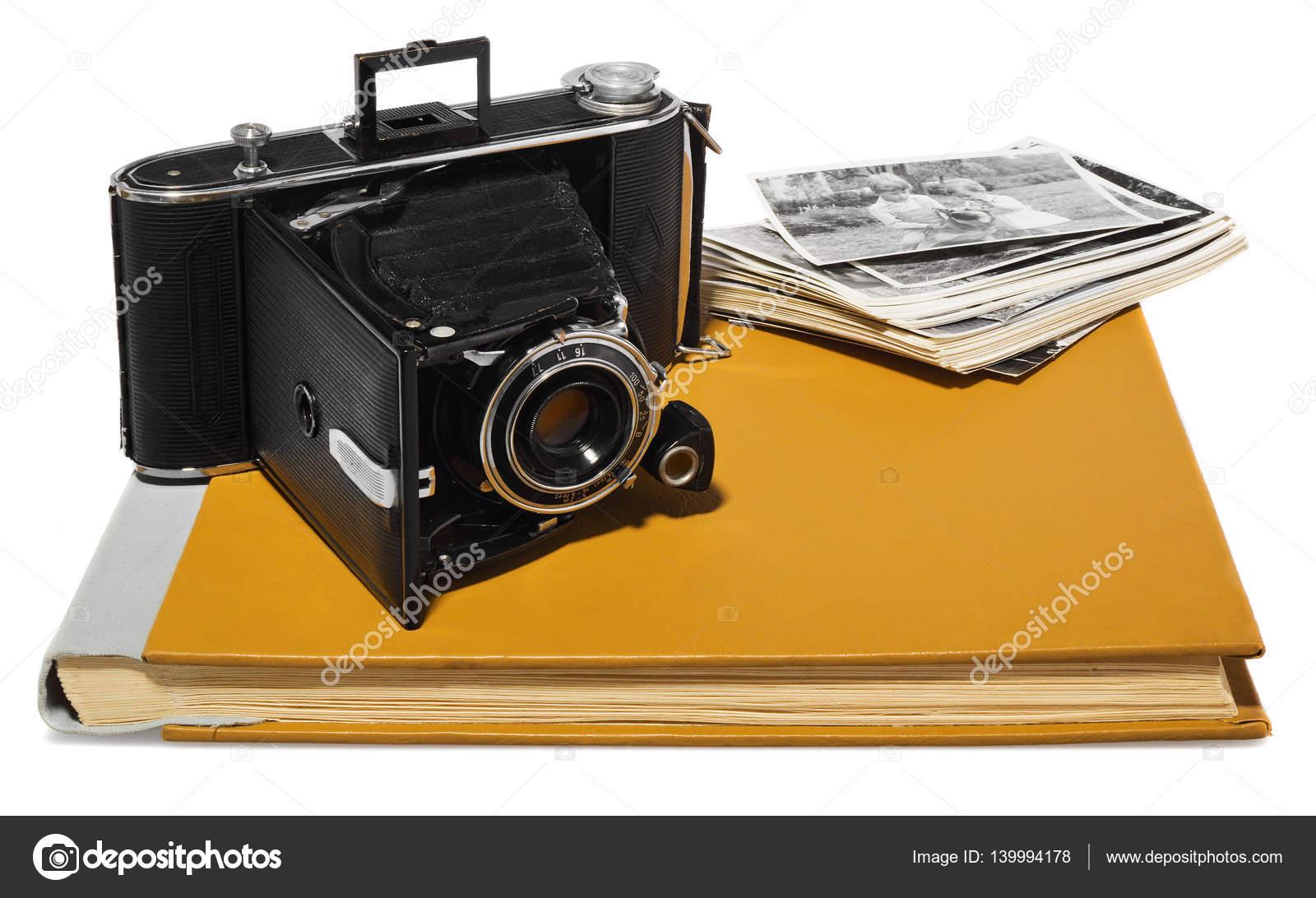 Antik, schwarz, Pocket-Kamera, alte Fotoalben, retro-schwarz / weiß ...