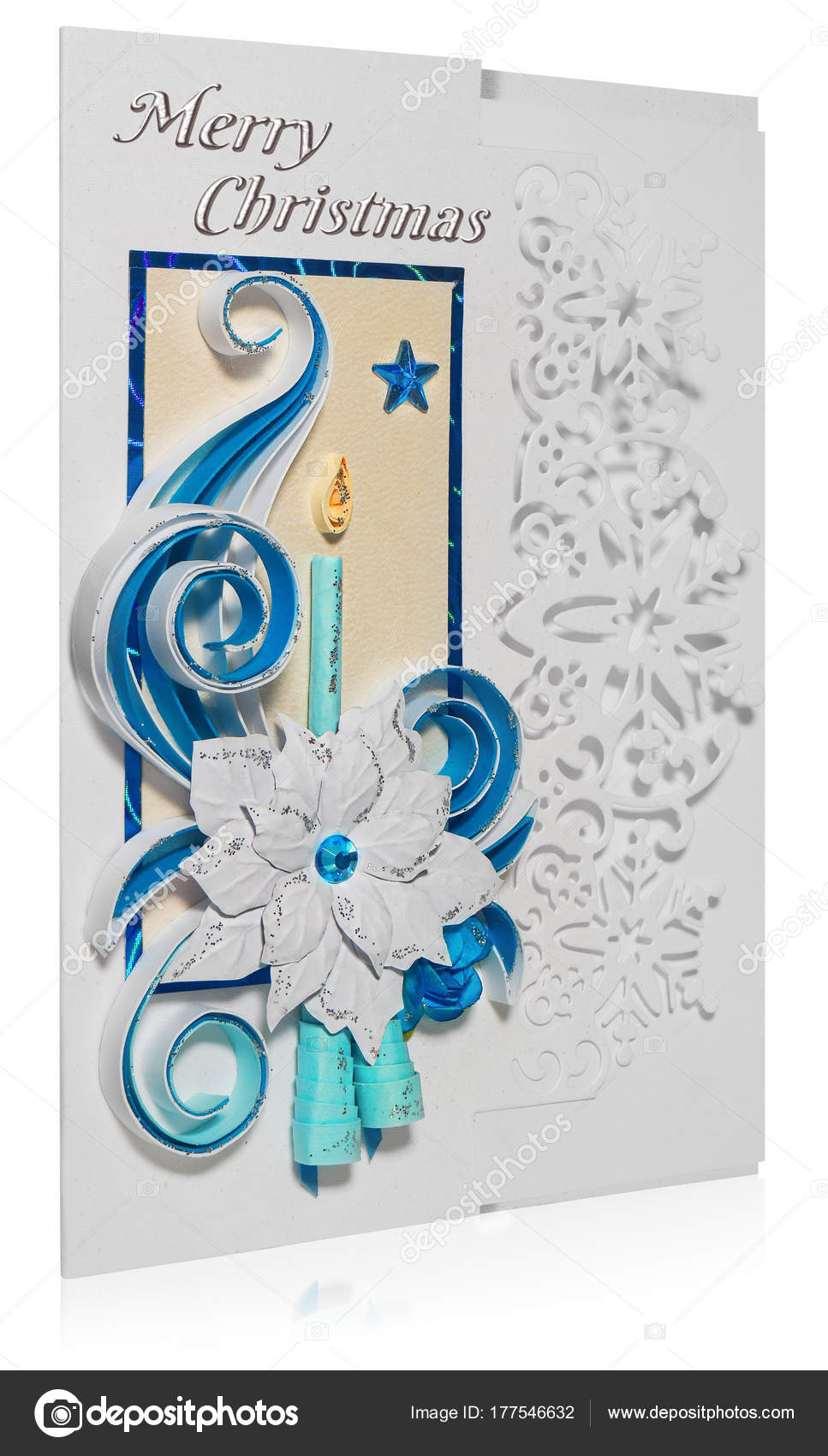 Handgemachte Weihnachtskarte frohe Weihnachtsgrüße und poins ...