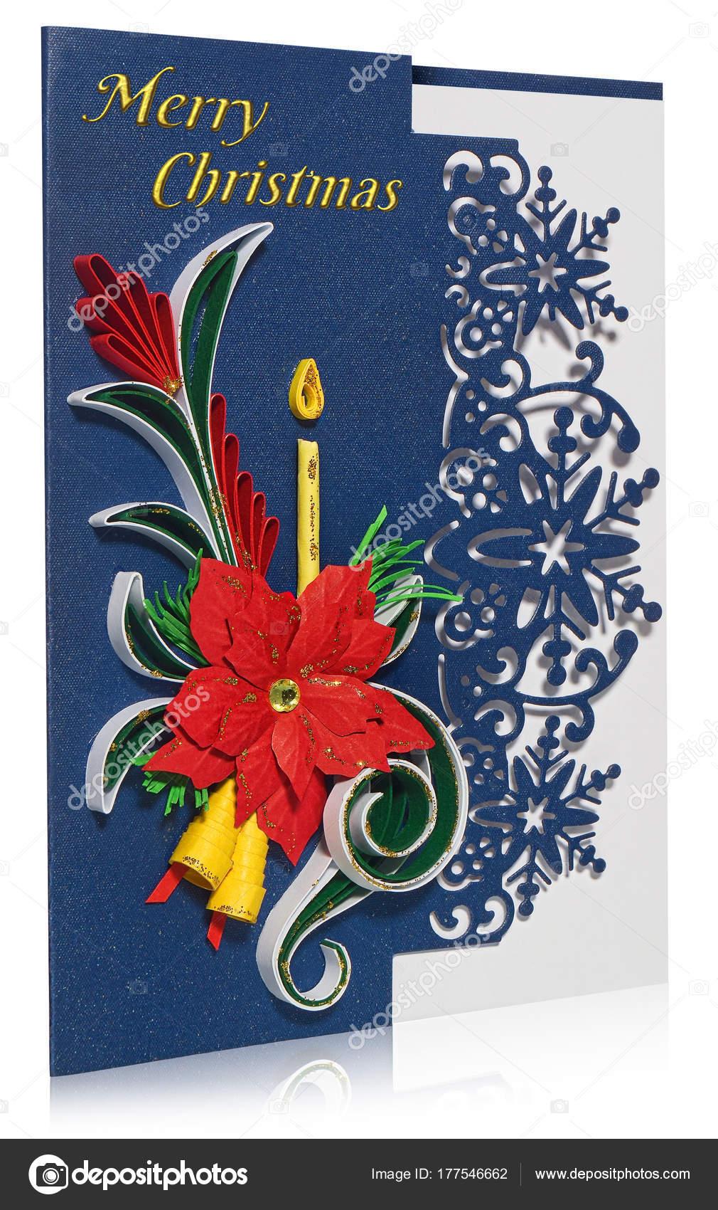 Handmade Christmas Card With Merry Christmas Greetings And Poins