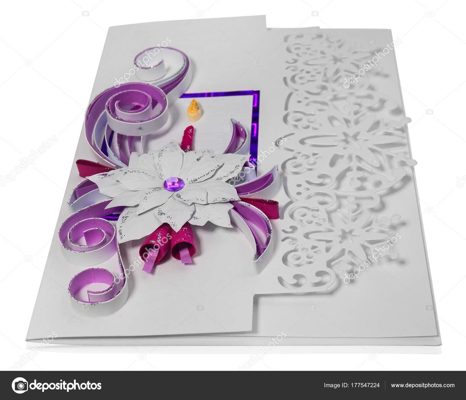 Muster Für Weihnachtsgrüße.Handgemachte Weihnachtskarte Frohe Weihnachtsgrüße Und Poins