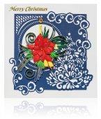 Cartolina di Natale fatti a mano con auguri di buon Natale e poins