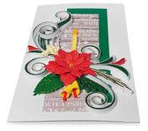 Ručně vyráběné vánoční přání s veselé vánoční pozdrav a poins