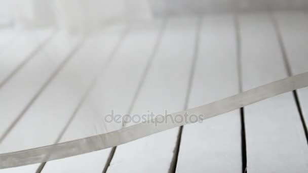 Světelné závěsy na pozadí zpomalené koridor vítr