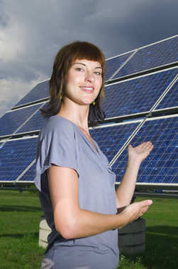 young lady and clean energy