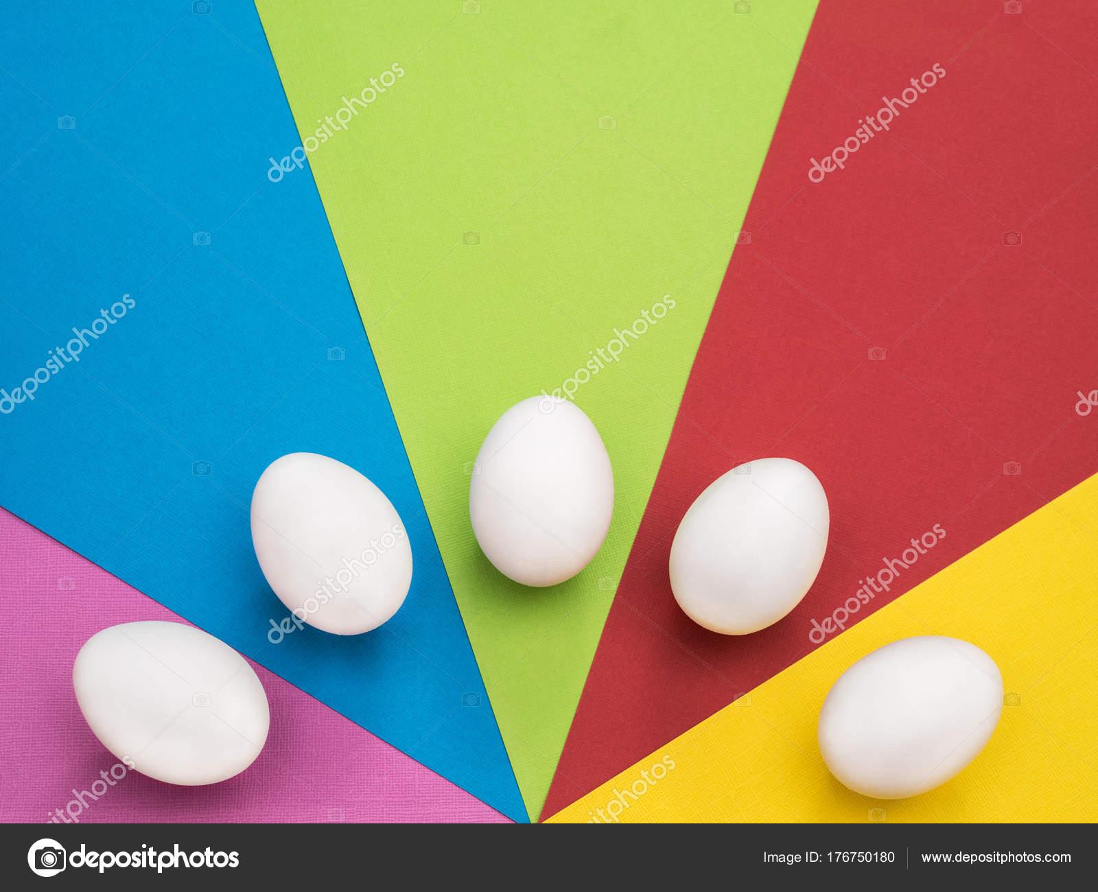 Huevo Pascua Colores Fondo Concepto Unas Vacaciones Una Feliz Pascua ...