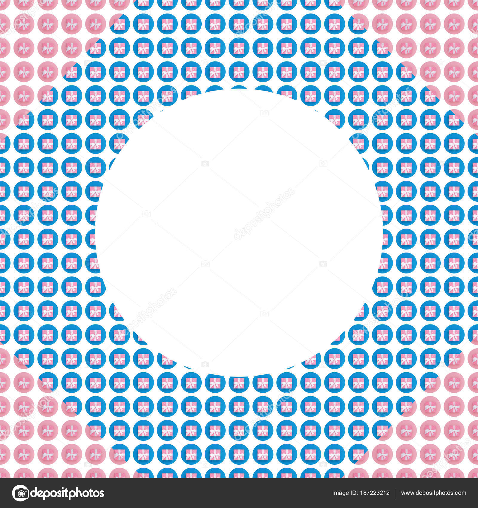 Estructura Caja Regalo Envuelto Collage Color Pastel Plano Pone ...