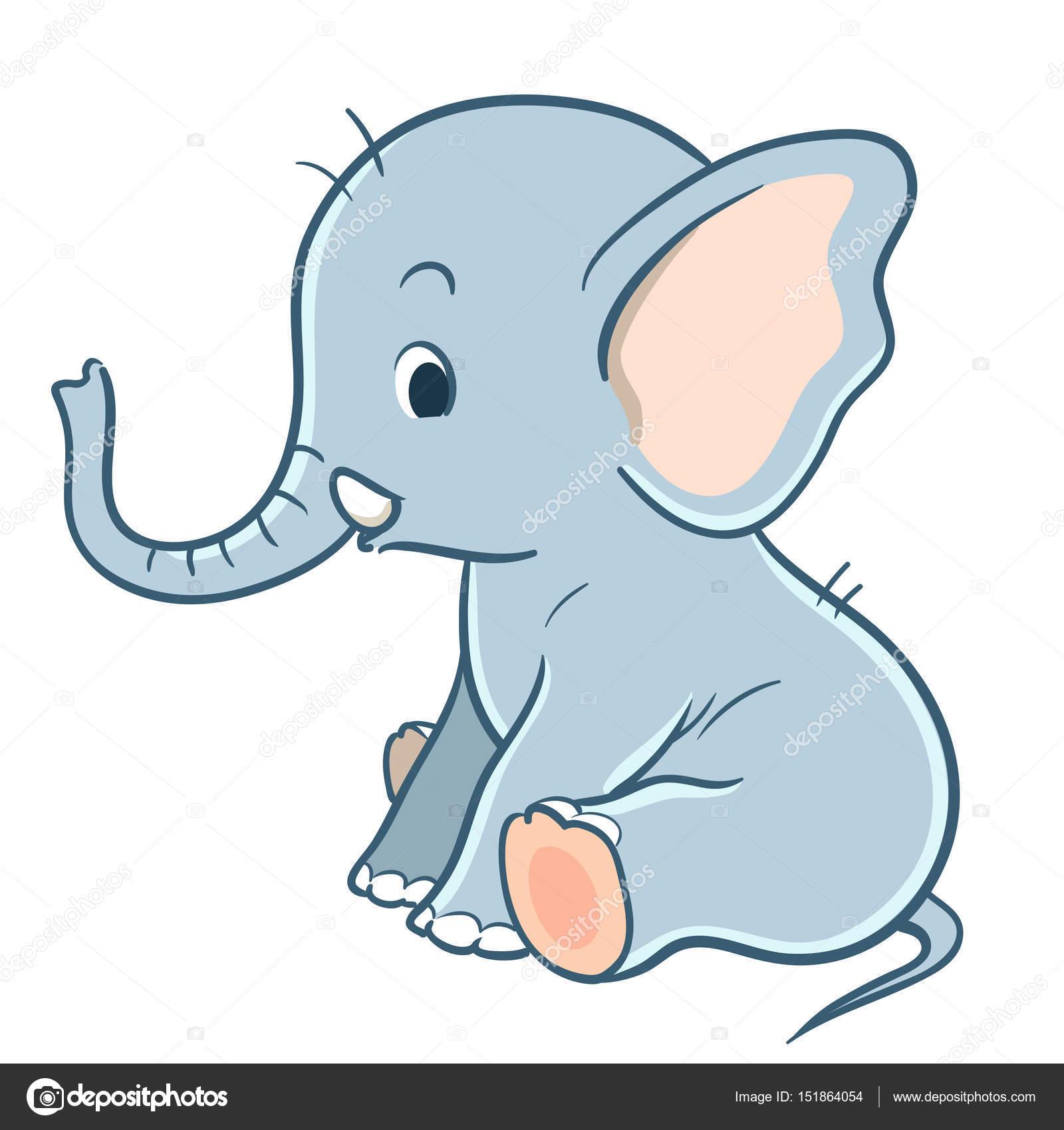 Dibujos Elefantes Infantiles Elefante De Dibujos Animados Lindo
