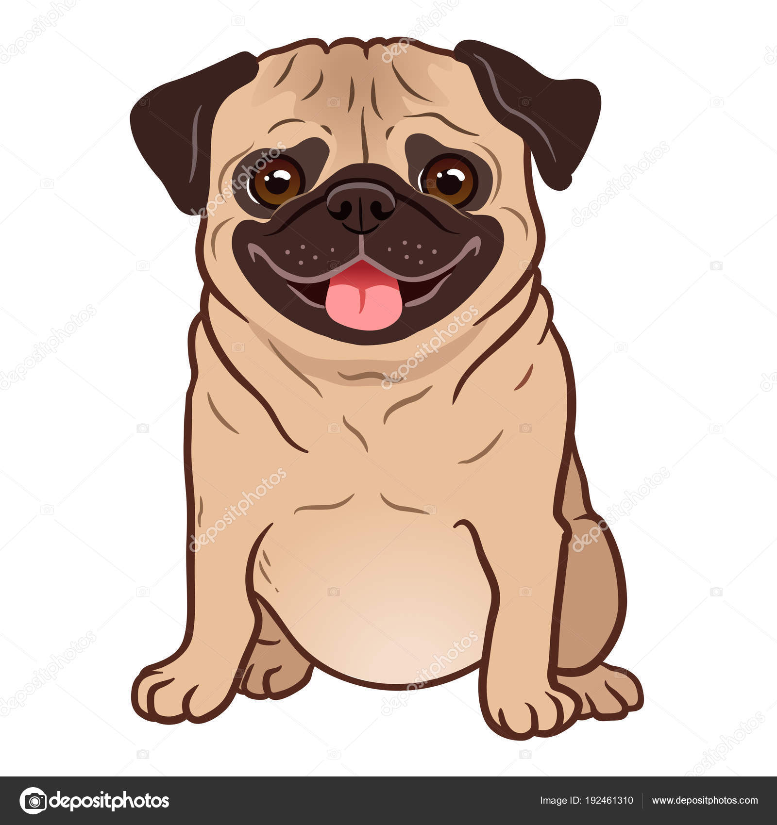 Best Rottweiler Chubby Adorable Dog - depositphotos_192461310-stock-illustration-pug-dog-cartoon-illustration-cute  Image_19649  .jpg