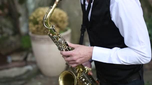 Szaxofonos, játszott a természetben