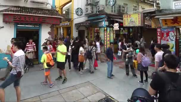 Timelapse v Old Taipa, Macau s Starbucks