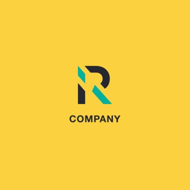 R Letter logo, Icon vector