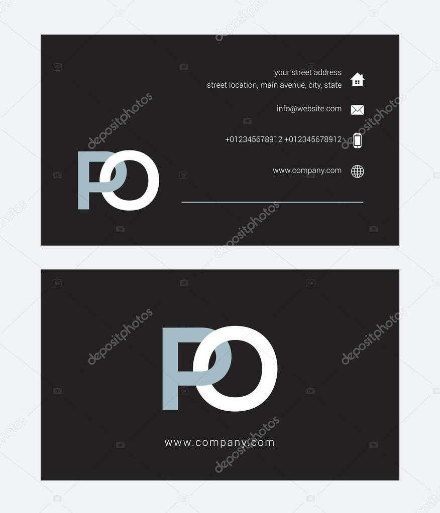 letter logo business card template stock vector