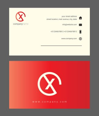 red company business card