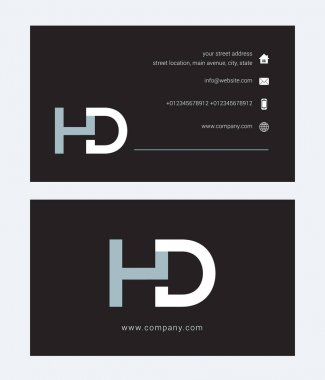 corporate logo with joint letters Hd
