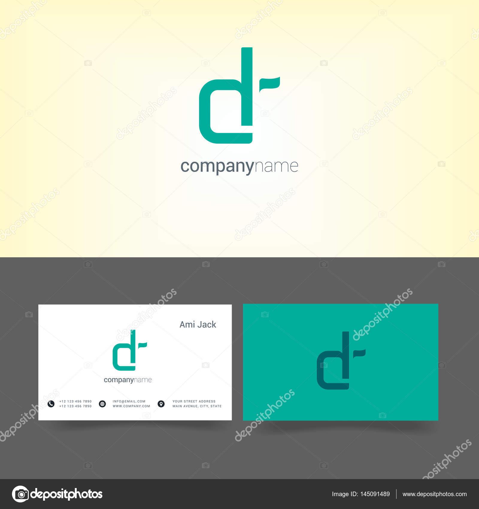 marchio dell\'azienda con modelli di business card — Vettoriali Stock ...