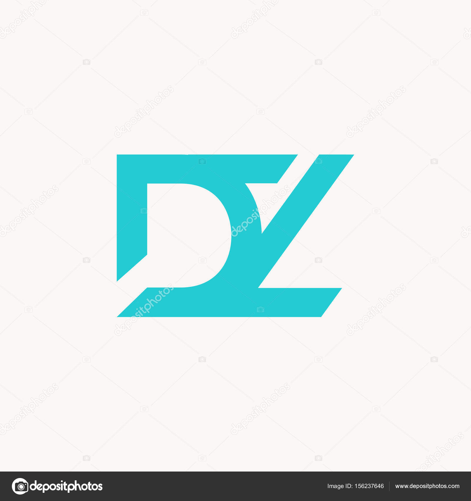 Dz >> Joint Logo Icon Dz Stock Vector C Deepzdzyn 156237646