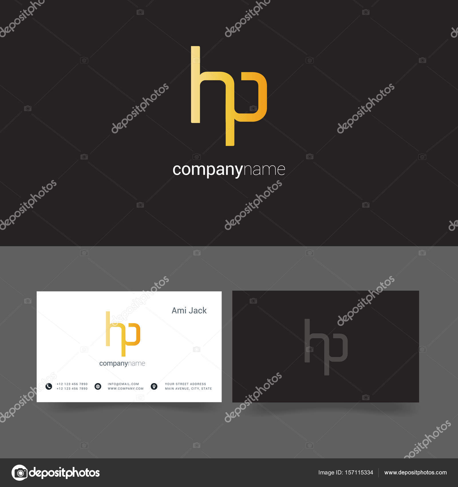 design of Joint letters Hp — Stock Vector © deepzdzyn #157115334