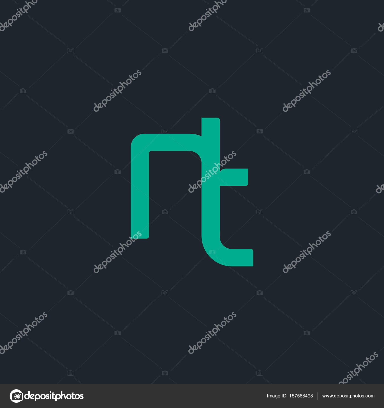 Design Of Joint Letters Nt Stock Vector Deepzdzyn 157568498