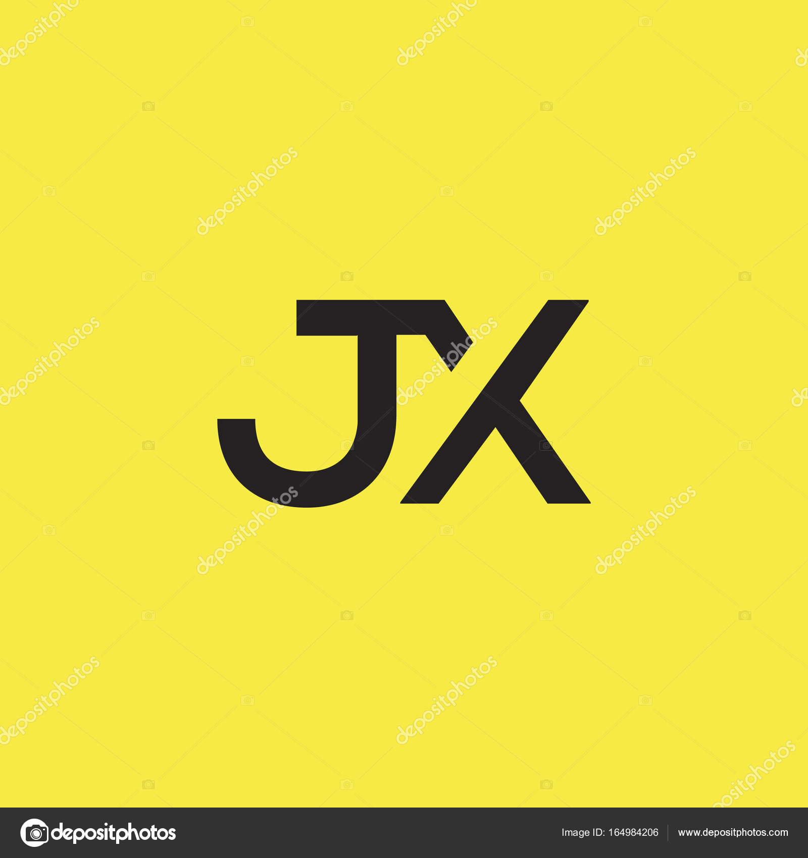 Connected Logo With Letters Jx Stock Il Ration