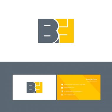 bold type logo with letters BH