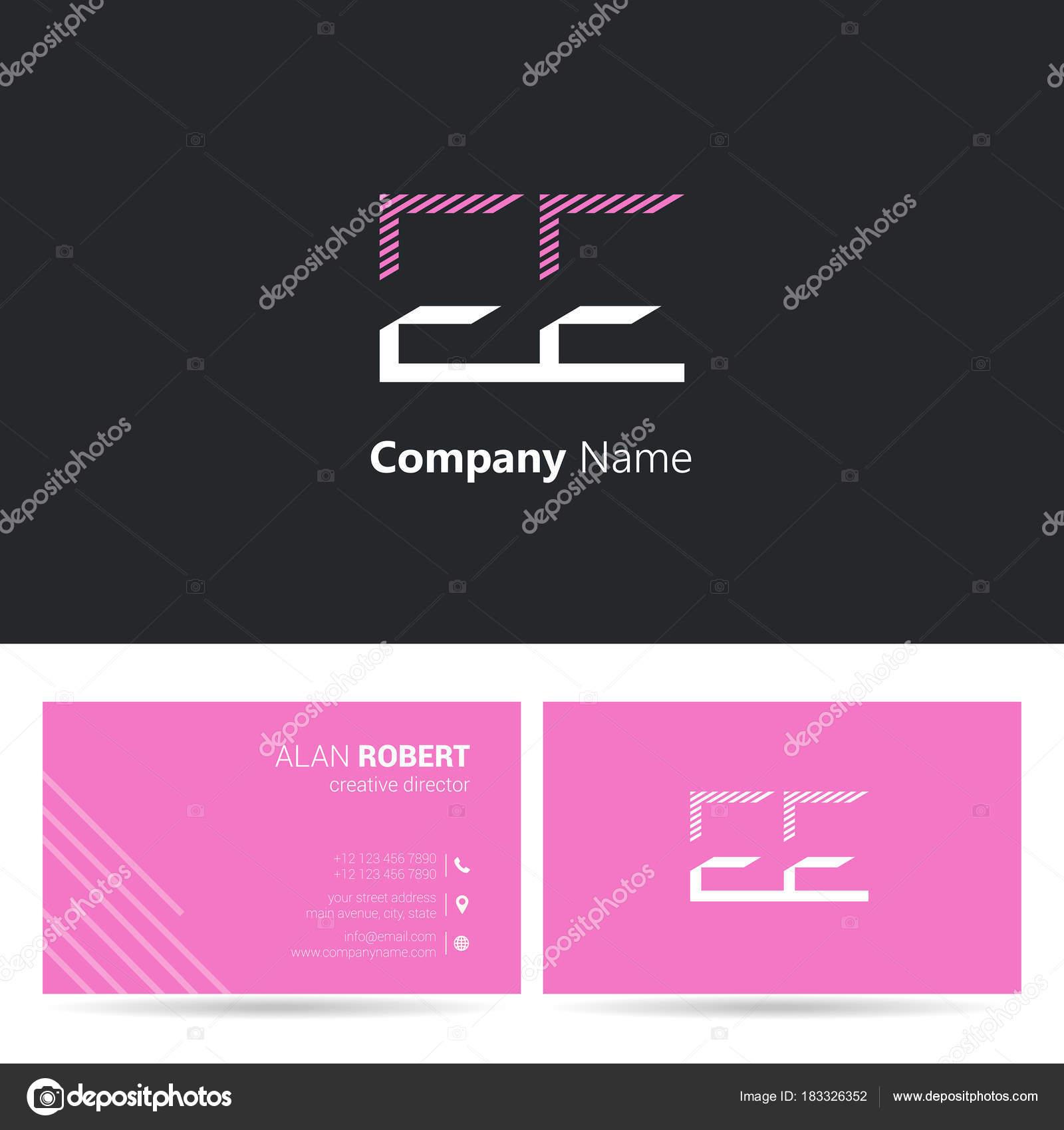 Logo Design Letters Stroke Style Font Business Card Template Black ...