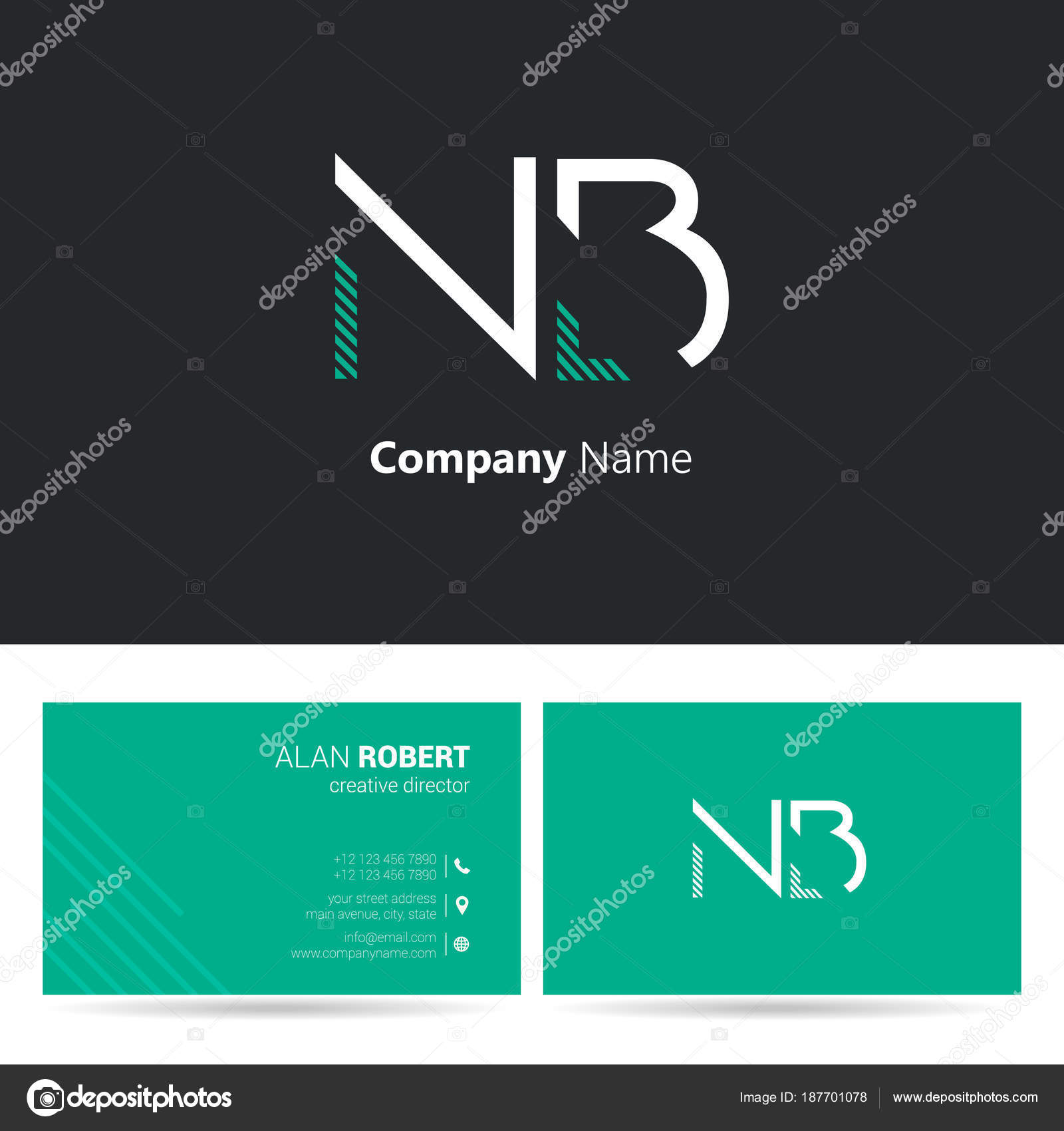 Multi color logo business card template stock vector deepzdzyn multi color logo business card template stock vector reheart Choice Image