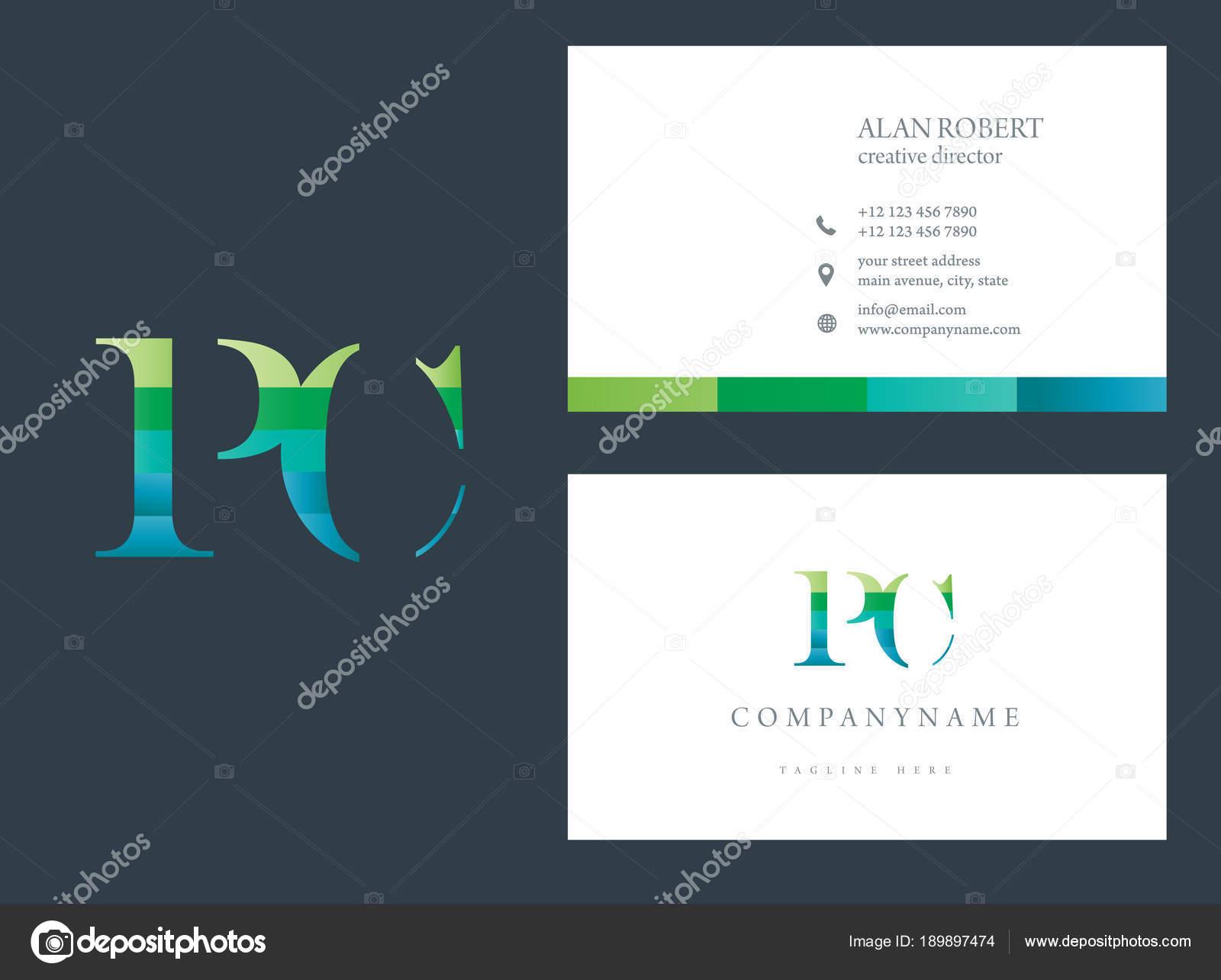 Logo Design Briefe Visitenkarten Vorlage Stockvektor
