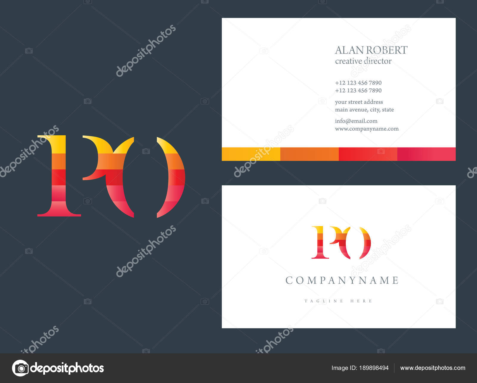 Logo Design Letters Business Card Template Stock Vector
