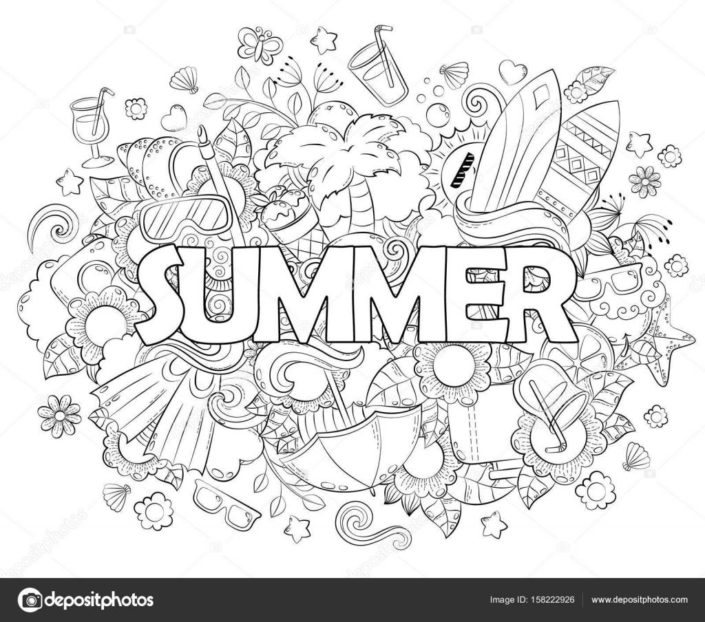 Doodle ilustración de vector dibujado a mano, Fondo, textura, patrón ...