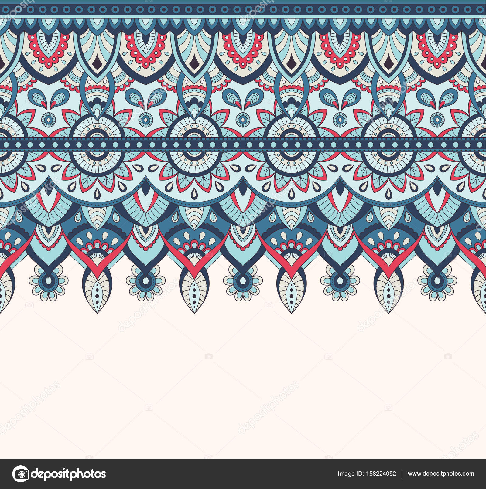 Seamless Doodle Illustration Zentangle Pattern Wallpaper Background Texture Indian Orment Vector By Slo Fuzz