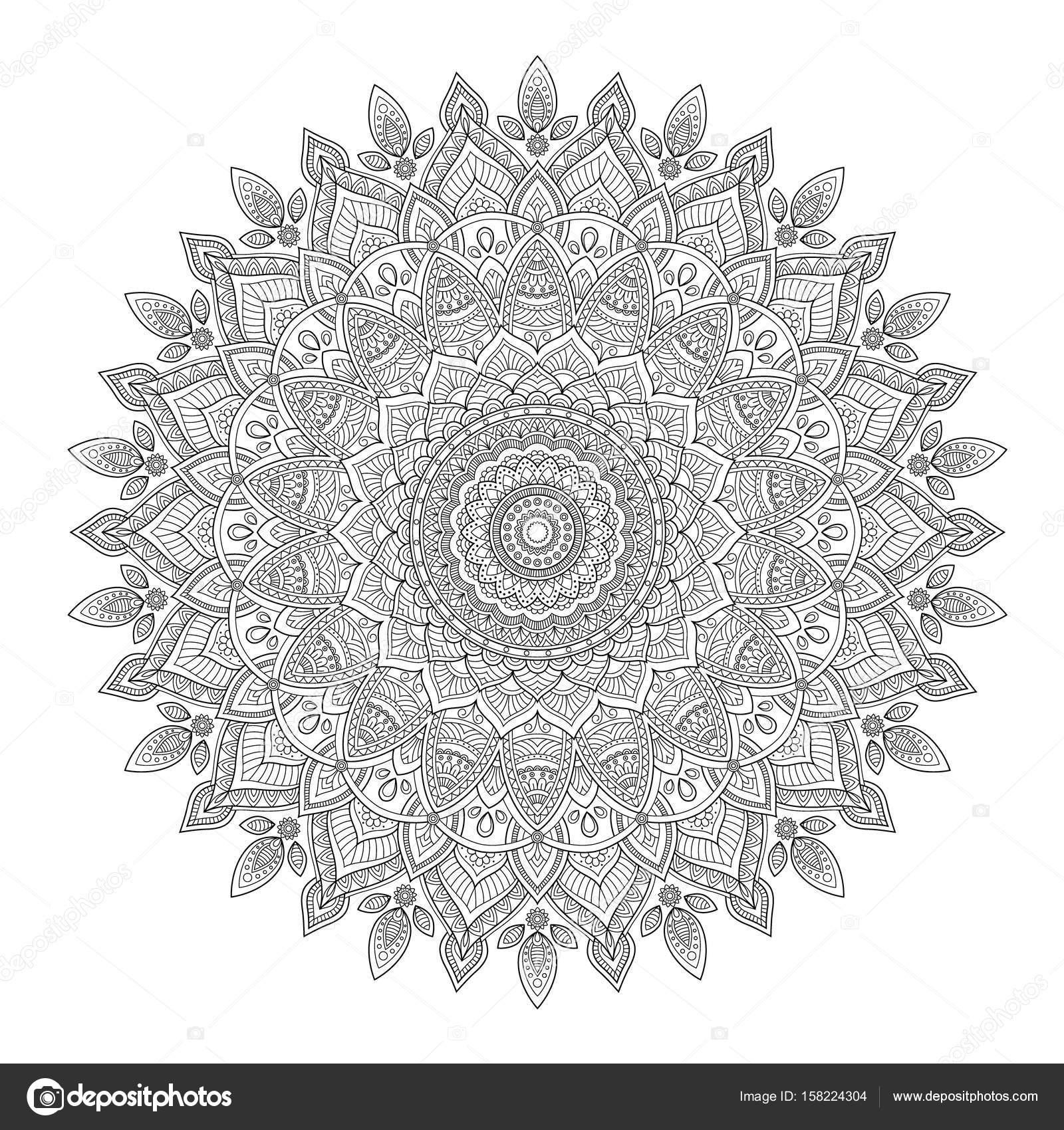 Zentangle Background Wallpaper Texture Pattern Round Mandala Template For Web Design Postcards Flyer Poster Advertising Vector By Slo Fuzz