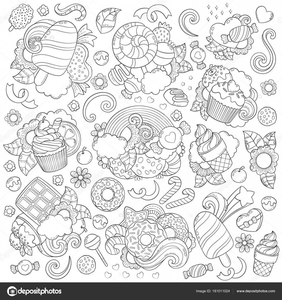 Doodle-Vektor-Illustration, abstrakten Hintergrund, Textur, Muster ...