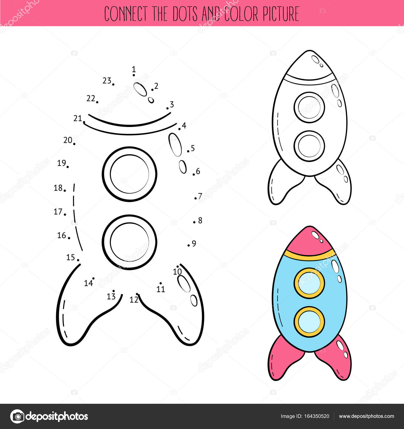 Coloring Book And Dot To Dot Educational Game For Kids Connect The