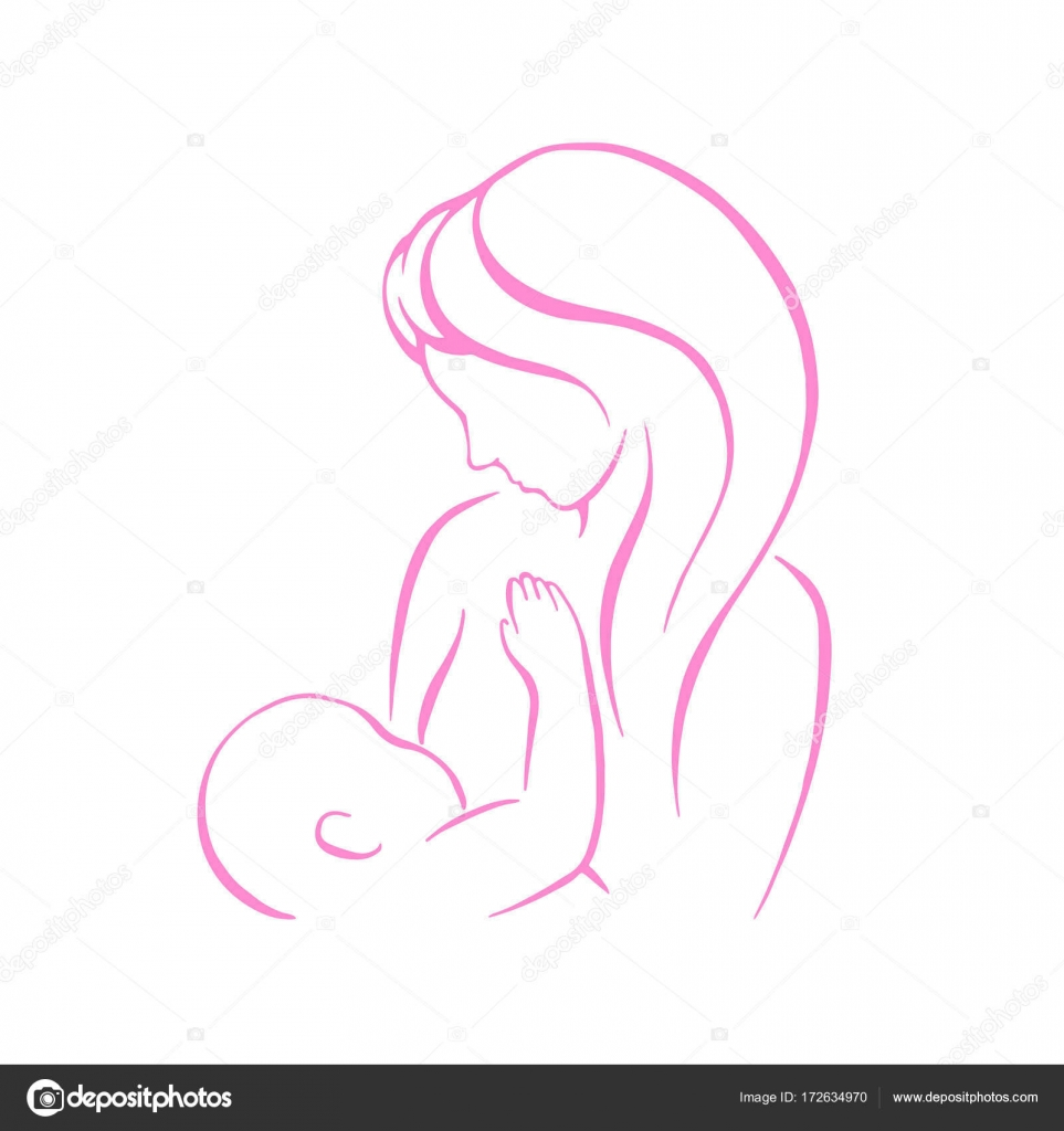 Immagini Mamma Che Allatta Segno Di Vettore D